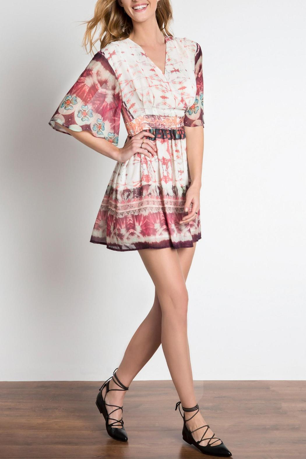 Urban Touch Ethnic Print Dress - Front Full Image