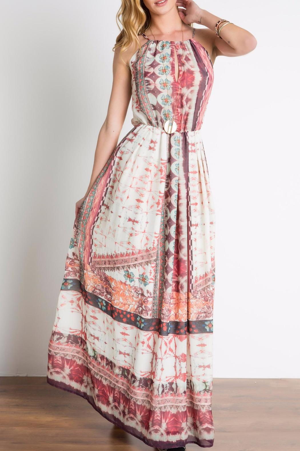 Urban Touch Ethnicprint Maxi Dress - Front Full Image