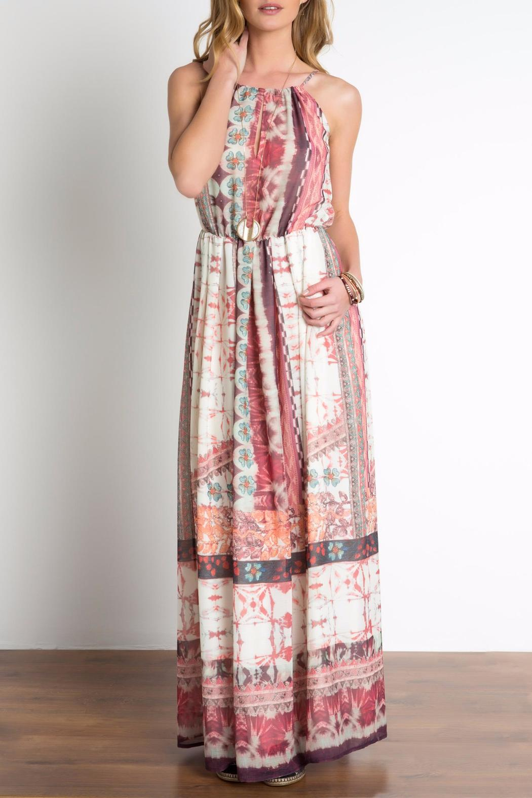 Urban Touch Ethnicprint Maxi Dress - Front Cropped Image