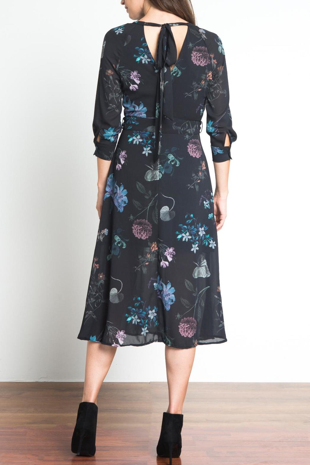 Urban Touch Floral Midi Dress - Side Cropped Image