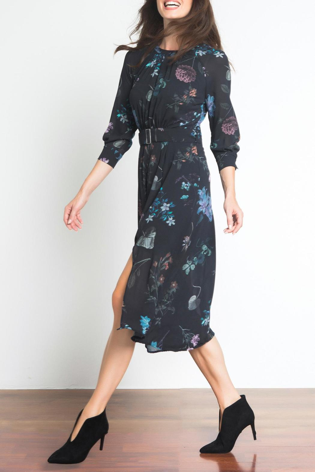 Urban Touch Floral Midi Dress - Front Full Image