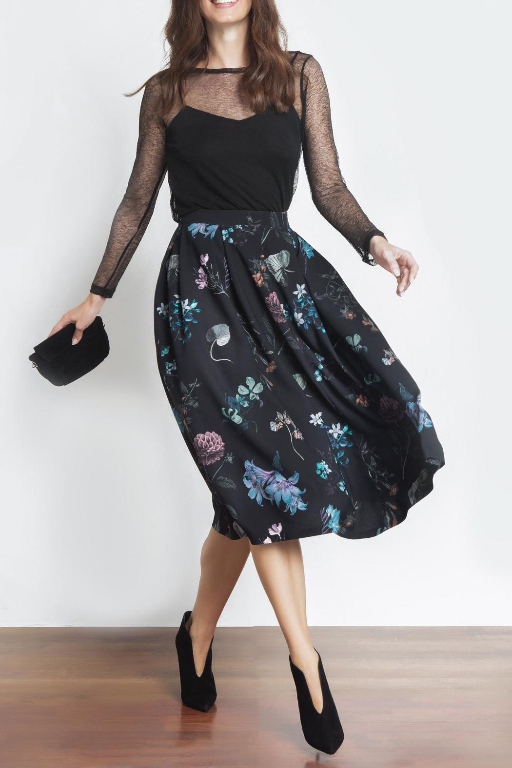 Urban Touch Floral Midi Skirt - Main Image