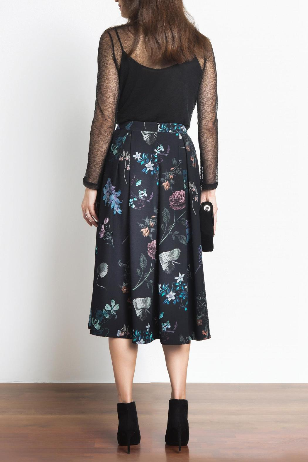 Urban Touch Floral Midi Skirt - Side Cropped Image