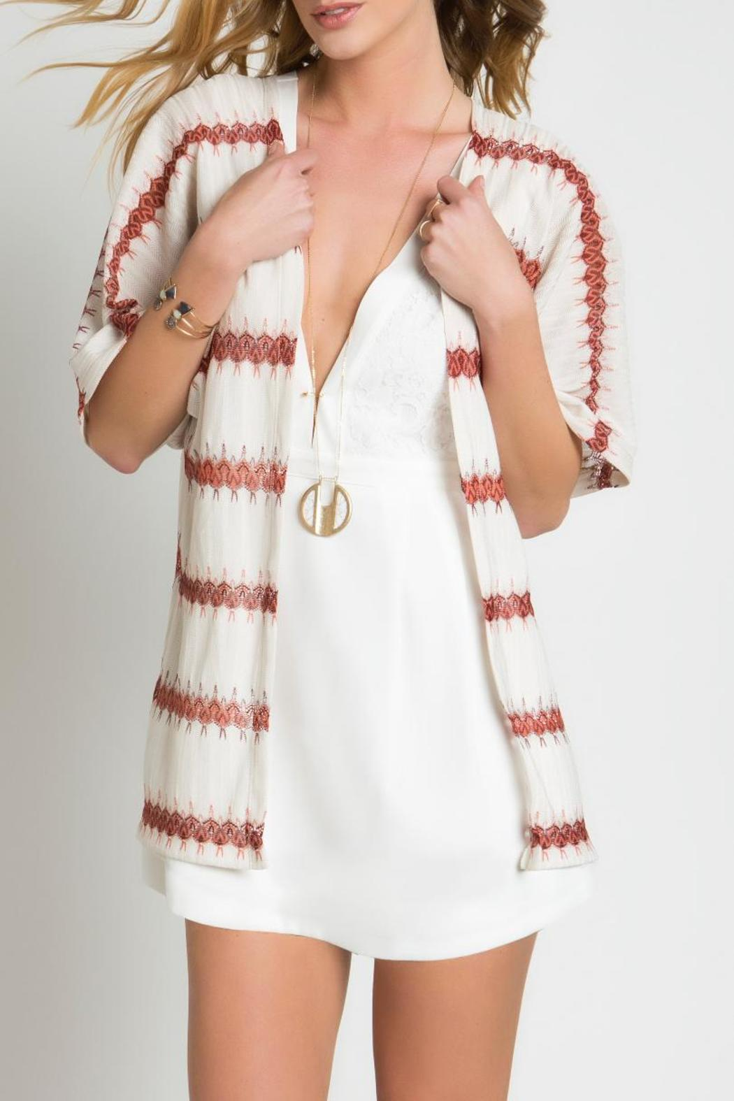 Urban Touch Knitted Printed Kimono - Main Image