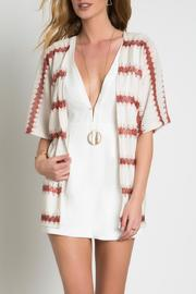 Urban Touch Knitted Printed Kimono - Front full body