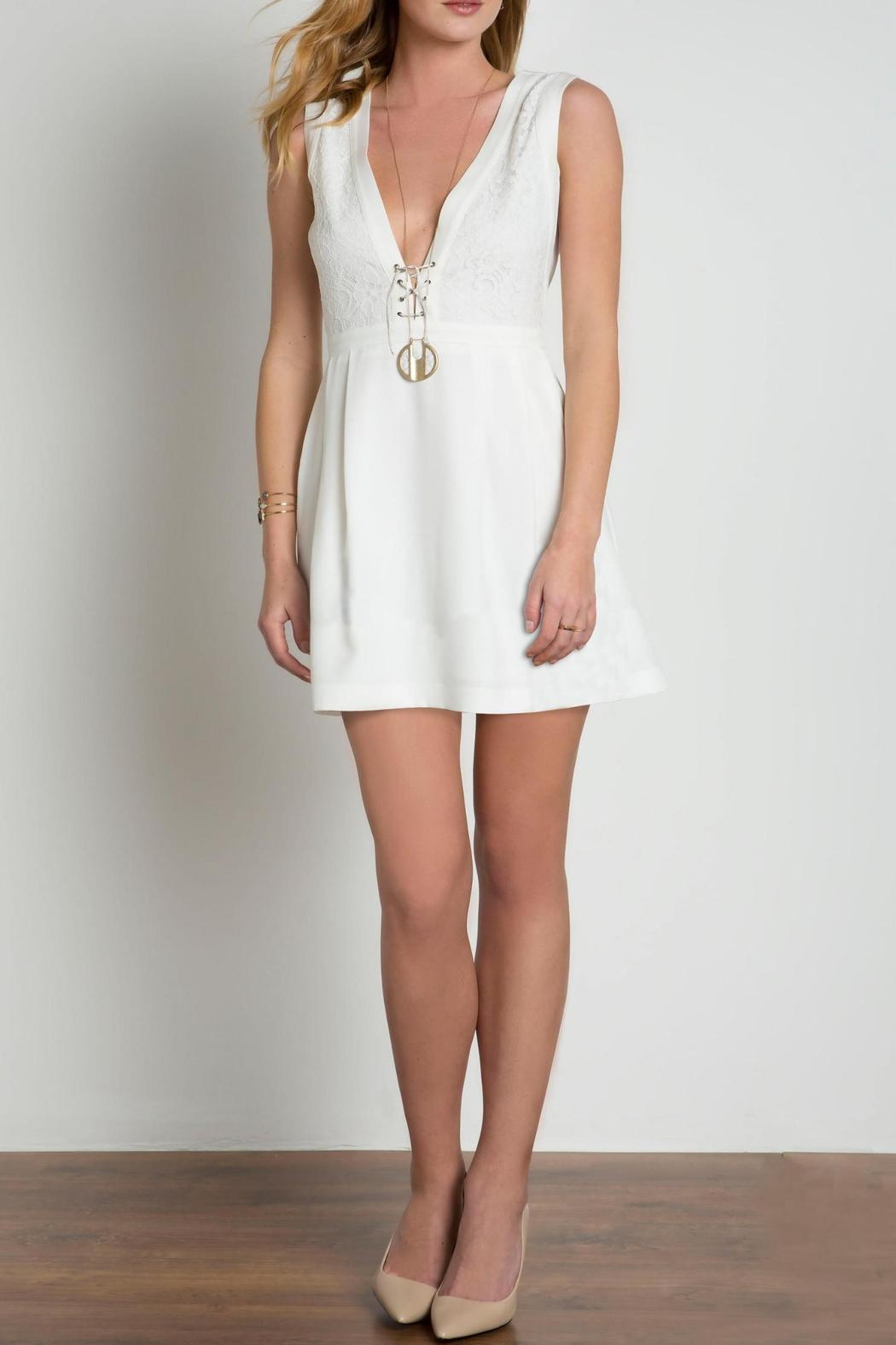 Urban Touch Lace Body Dress - Front Full Image