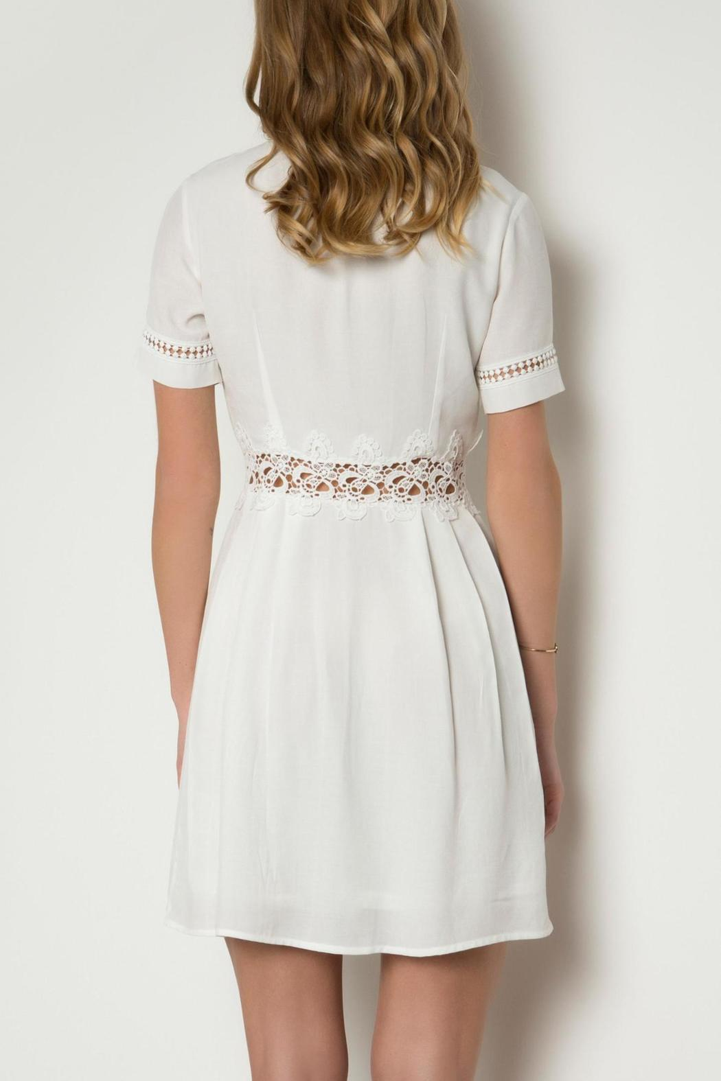 Urban Touch Lace Detailed Dress - Side Cropped Image