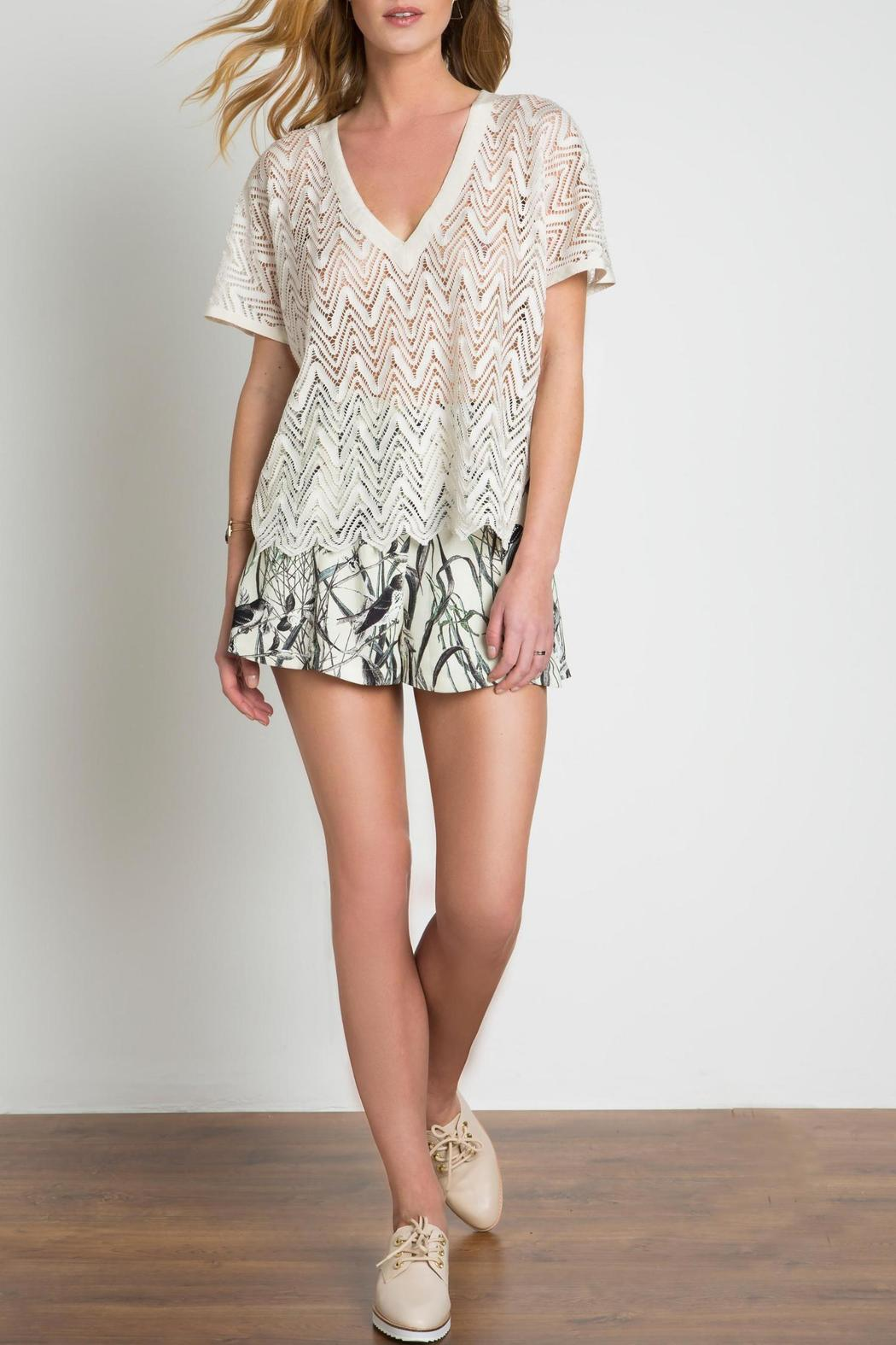 Urban Touch Lace Look Top - Main Image