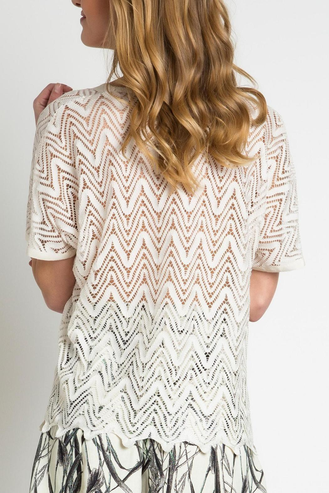 Urban Touch Lace Look Top - Side Cropped Image