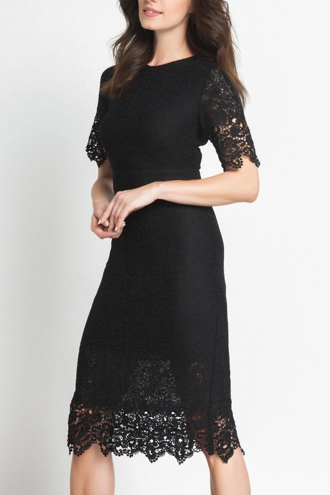 Urban Touch Lace Midi Dress - Front Cropped Image