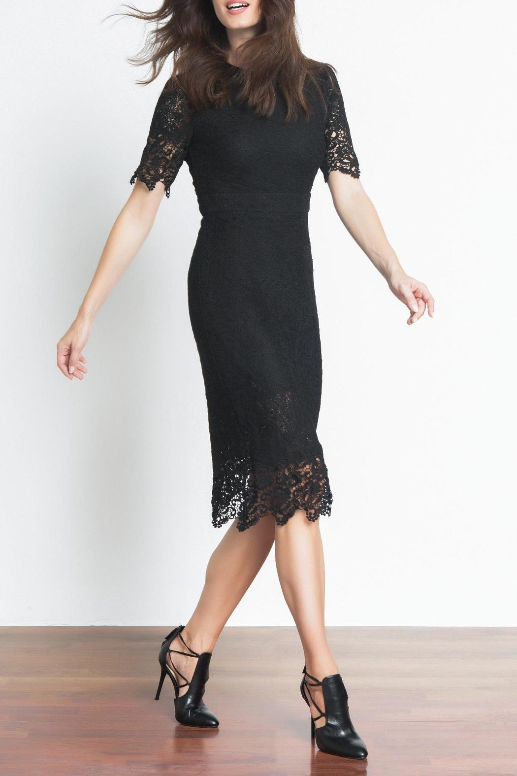 Urban Touch Lace Midi Dress - Front Full Image