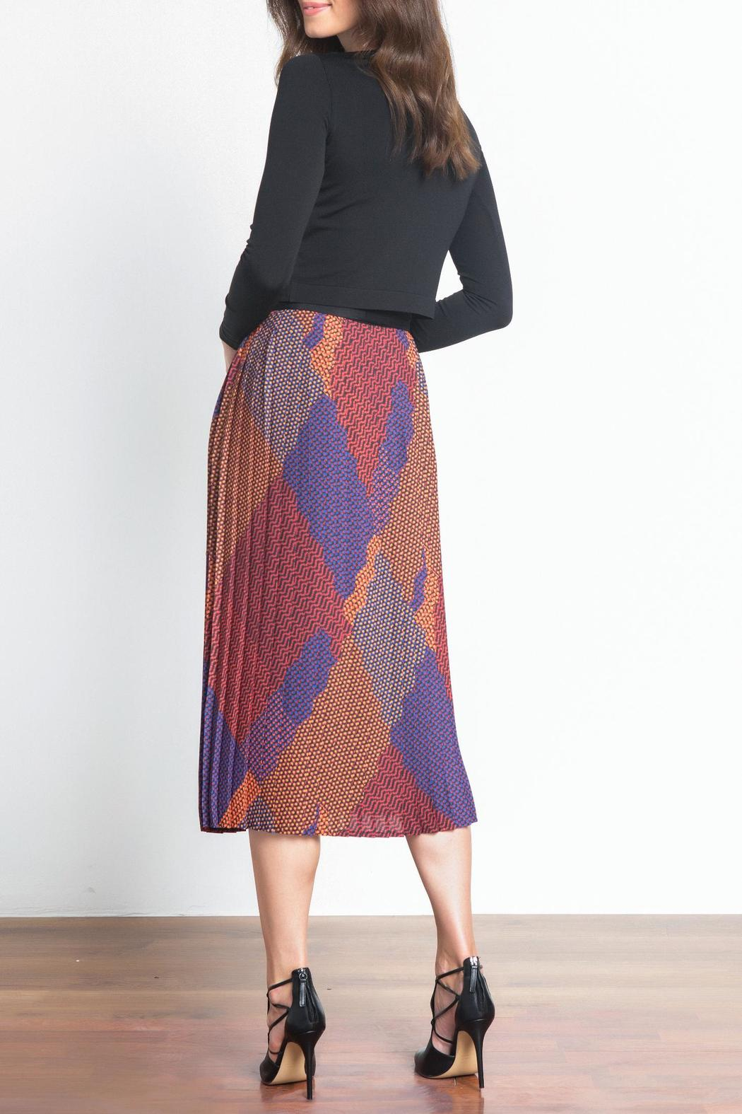 Urban Touch Pleated Midi Skirt - Side Cropped Image