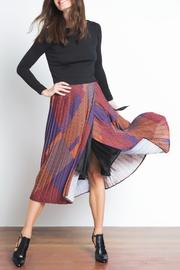Urban Touch Pleated Midi Skirt - Front full body