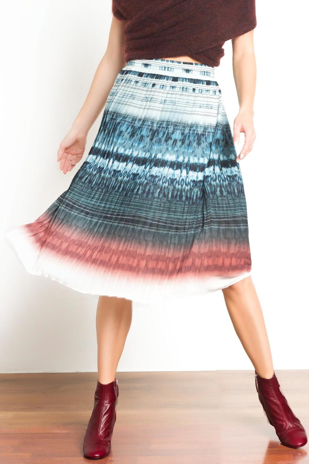 Urban Touch Pleated Midi Skirt - Front Full Image