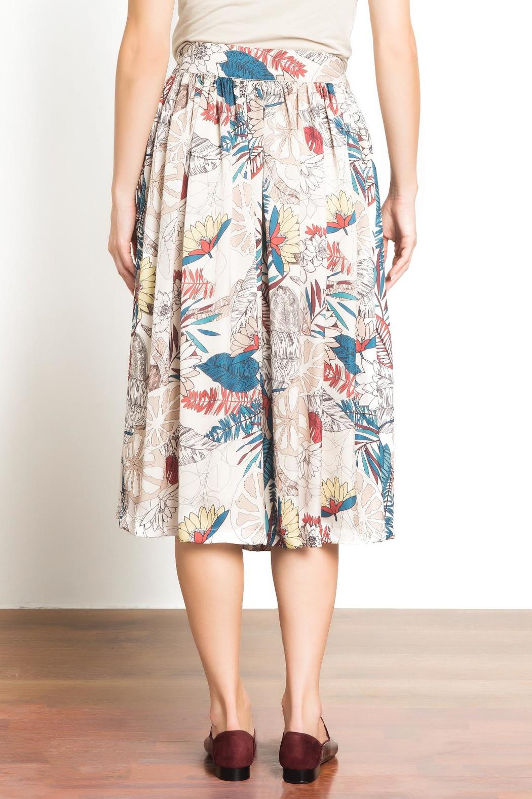 Urban Touch Printed Midi Skirt - Side Cropped Image