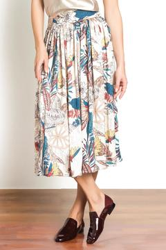Urban Touch Printed Midi Skirt - Product List Image