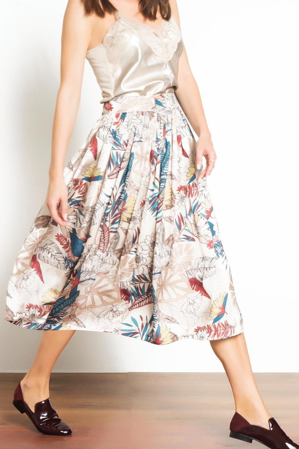 Urban Touch Printed Midi Skirt - Front Full Image