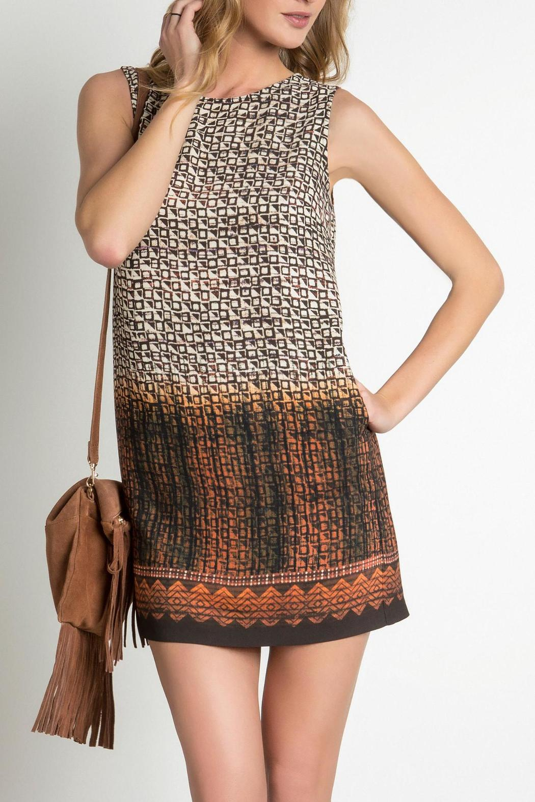 Urban Touch Printed Shift Dress - Main Image