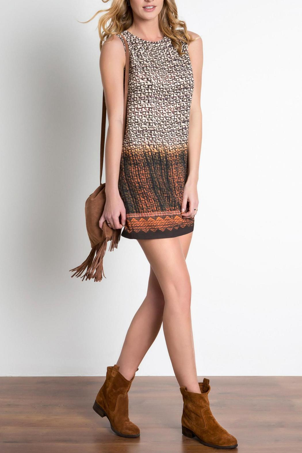 Urban Touch Printed Shift Dress - Front Full Image