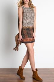 Urban Touch Printed Shift Dress - Front full body