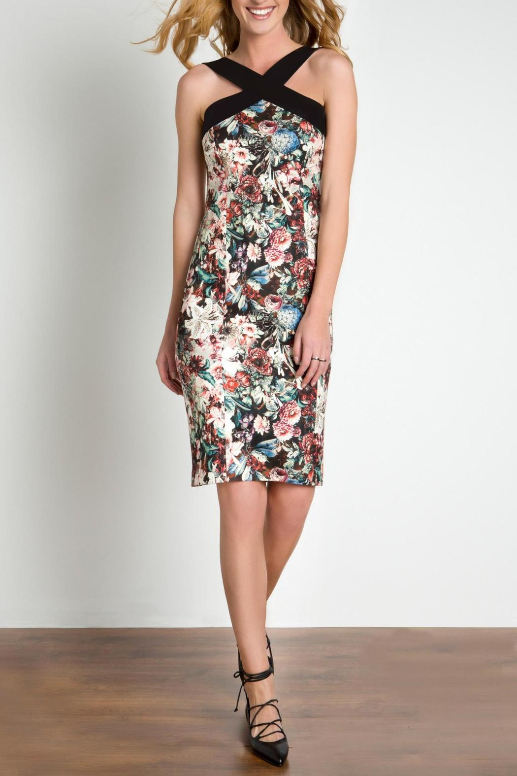 Urban Touch Strapped Neck Dress - Main Image