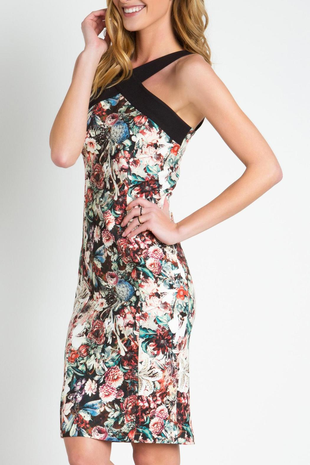 Urban Touch Strapped Neck Dress - Front Cropped Image
