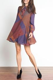 Urban Touch Tie Neck Dress - Product Mini Image