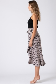 Urban Touch Tiger Print Wrap Skirt - Other
