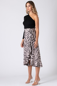 Urban Touch Tiger Print Wrap Skirt - Alternate List Image
