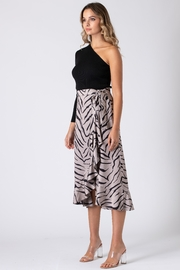 Urban Touch Tiger Print Wrap Skirt - Back cropped