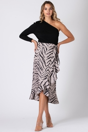 Urban Touch Tiger Print Wrap Skirt - Product Mini Image