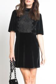 Urban Touch Velvet Dress - Front cropped