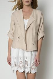 Urban Touch Zip Detailed Jacket - Front full body
