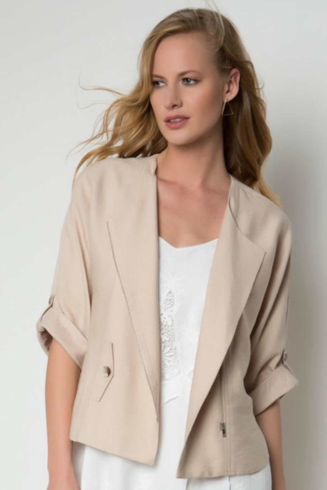 Urban Touch Zip Detailed Jacket - Front Cropped Image