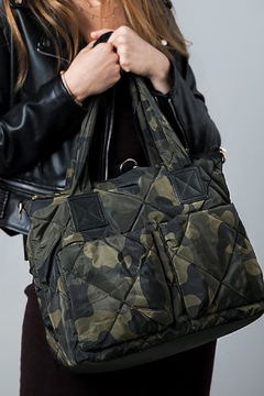 Shoptiques Product: Camo Puffer Tote