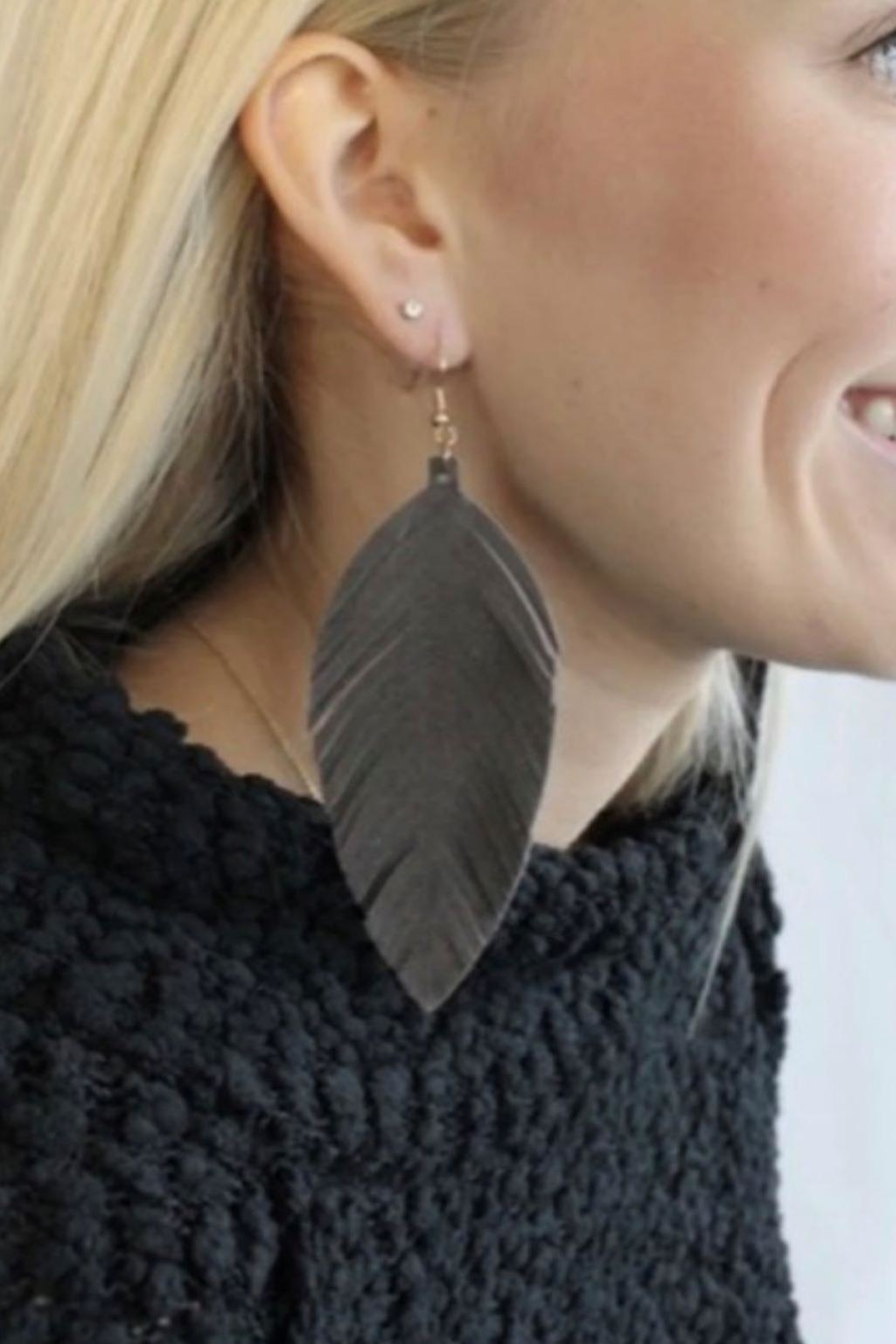 Urbanista Dark Grey Earrings - Main Image