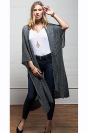 Urbanista Long Open-Weave Cardigan - Front cropped