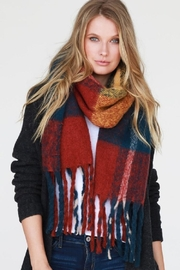 Urbanista Navy Plaid Scarf - Front cropped