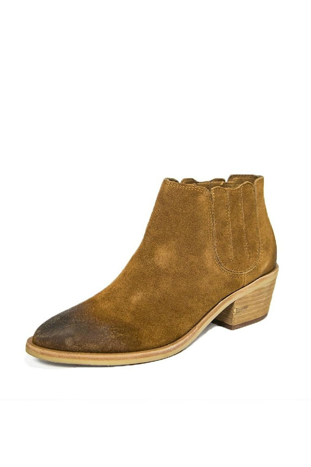 Urge Brown Leather Bootie - Main Image