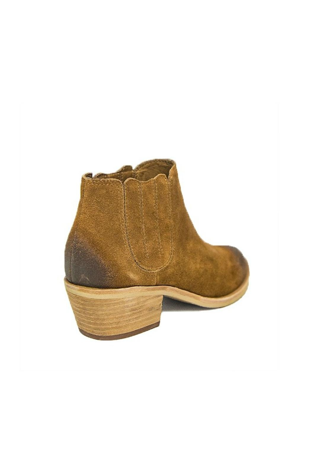 Urge Brown Leather Bootie - Front Full Image
