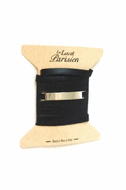 Ursul Black Leather Bracelet - Product Mini Image