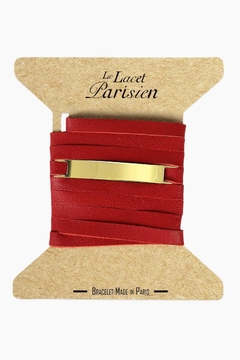 Shoptiques Product: Red Leather Bracelet