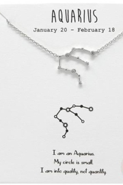 US Jewelry House Aquarius Constellation Necklace - Front cropped