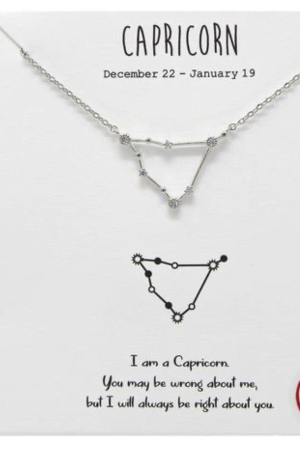 US Jewelry House Capricorn Constellation Necklace - Main Image
