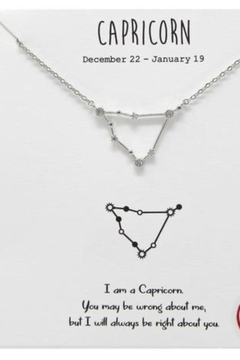 US Jewelry House Capricorn Constellation Necklace - Alternate List Image