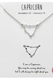 US Jewelry House Capricorn Constellation Necklace - Front cropped