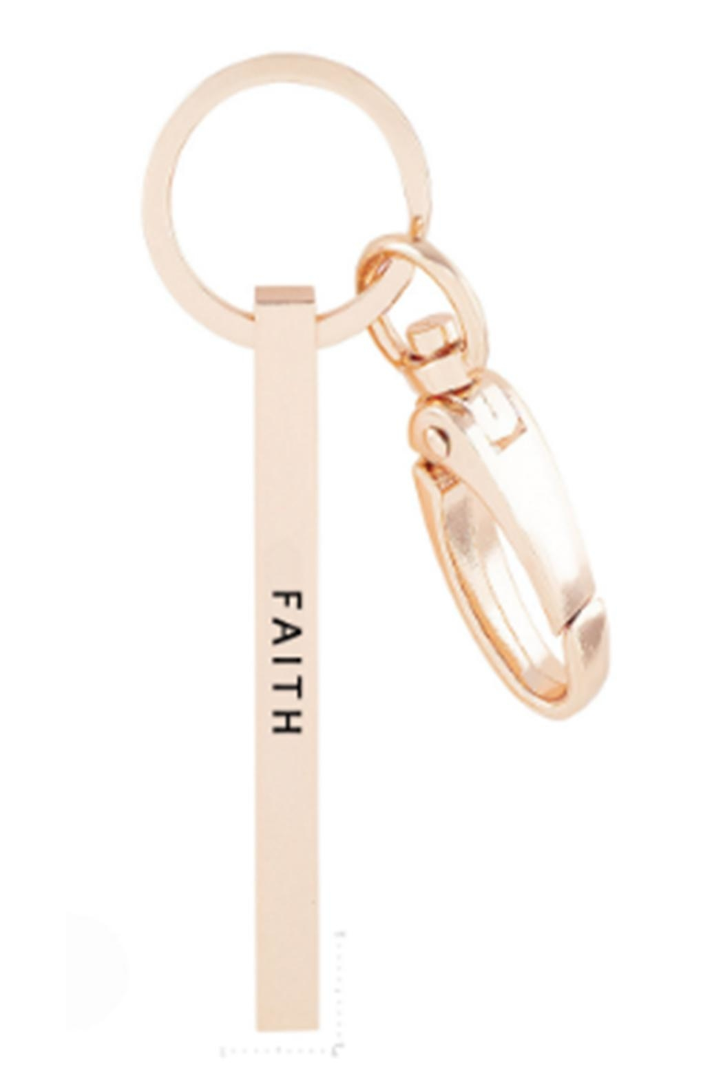 US Jewelry House Faith Rose-Gold Keychain - Front Cropped Image
