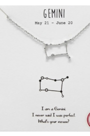 US Jewelry House Gemini Constellation Necklace - Product Mini Image
