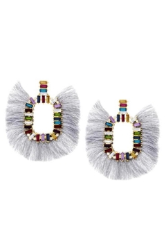 US Jewelry House Gray Fringe Earrings - Product List Image