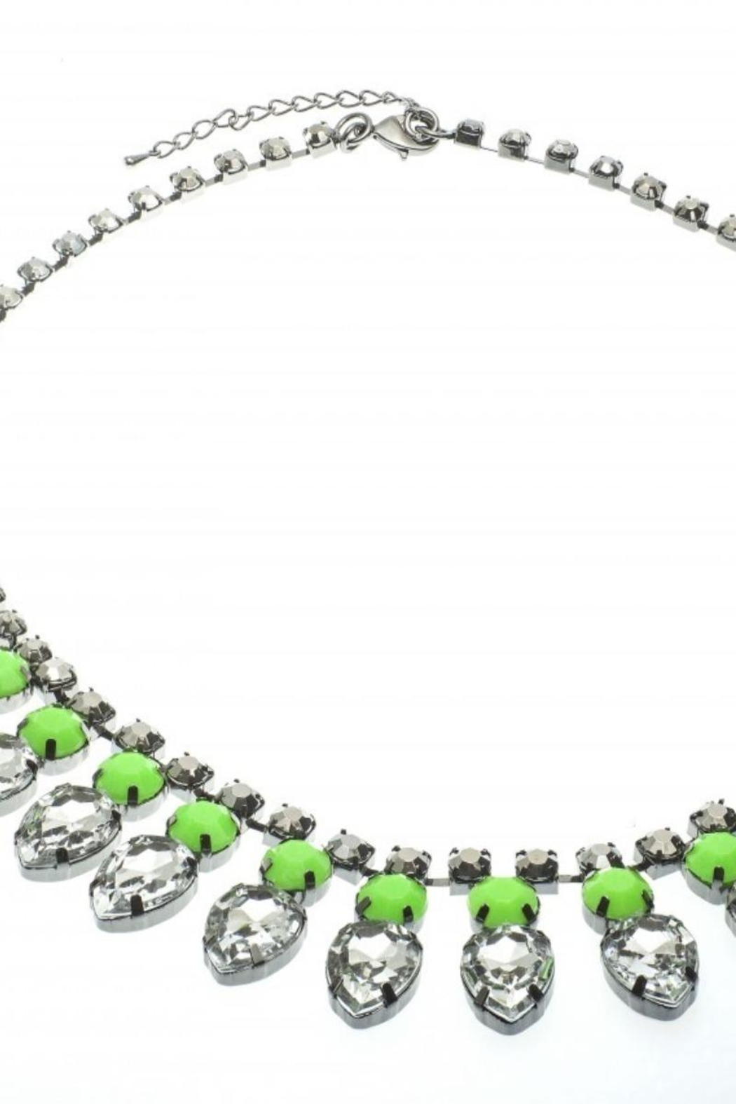 US Jewelry House Green Statement Necklace - Main Image